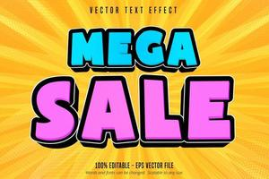 efecto de texto editable estilo mega venta de compras