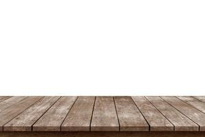 Empty wooden table top photo