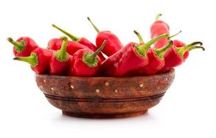 chile rojo aislado en blanco