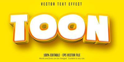 Toon cartoon style editable text effect vector
