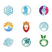 9 Abstract Miscellaneous Logo Set