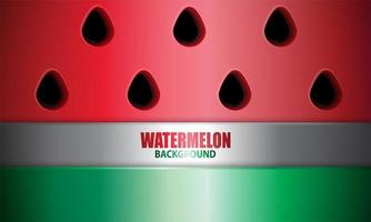 Watermelon Background in Realistic Style vector