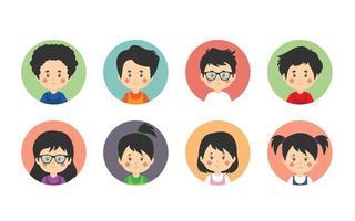8 Avatar Kids in Circle Frames