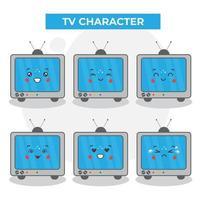 personagens fofinhos da televisão vetor