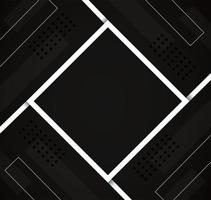Abstract geometric black lines design vector