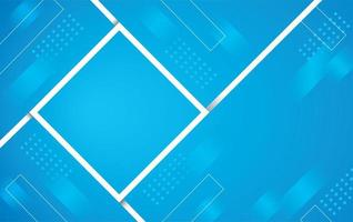 Abstract gradient blue color square design vector