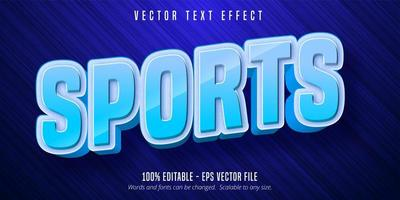 Sports style editable text effect vector