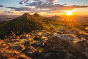 Sunset on Brnik hill