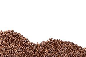 Roasted beans on white background photo