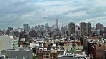 panorama del lasso di tempo di new york skyline