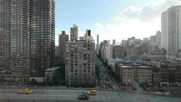 ciudad. Nueva York. Nueva York. tráfico. distrito urbano horizonte. transporte video