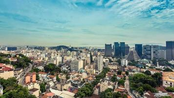 Downtown of Rio de Janeiro panning Time Lapse. video