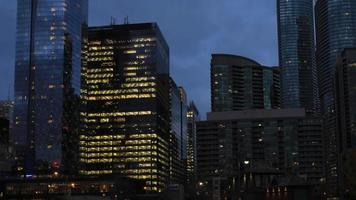 Timelapse of Toronto's downtown core after dark