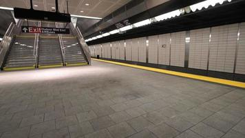 plataforma de metrô de nova york