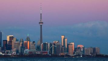 Day to night timelapse Toronto video