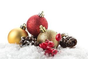 composición decorativa de navidad aislado en blanco