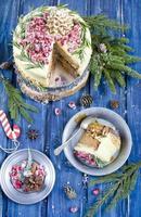 pastel de pan de jengibre de navidad