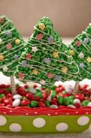 Rice crispy bars decorated for Christmas
