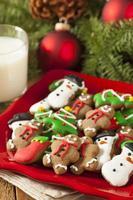 Galletas de Navidad de pan de jengibre helado tradicional
