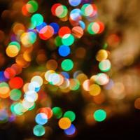fondo de luces de navidad desenfocado foto