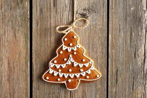 galleta de jengibre casera de navidad foto