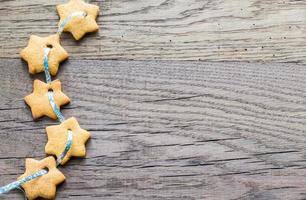 guirnalda de estrella de pan de jengibre