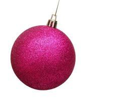 Pink christmas ball photo
