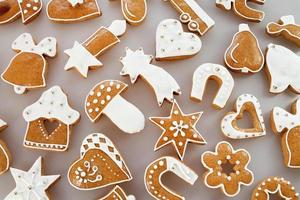Christmas gingerbread background