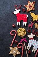 fundo de comida de doces festivos de natal