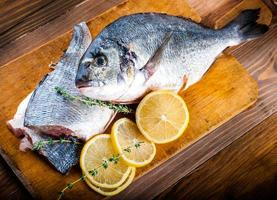 Dorado fish with lemon and figs photo