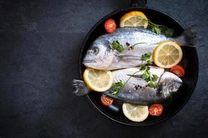 Fish in the pan photo