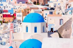 Church with the blue roof. Oia Santorini Greece photo