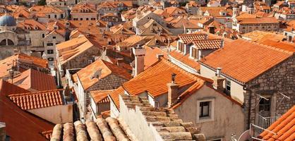 los tejados del casco antiguo foto