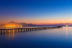 Majorca Muro beach sunrise Alcudia Bay Mallorca photo