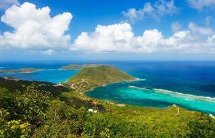 Tropical coast aerial