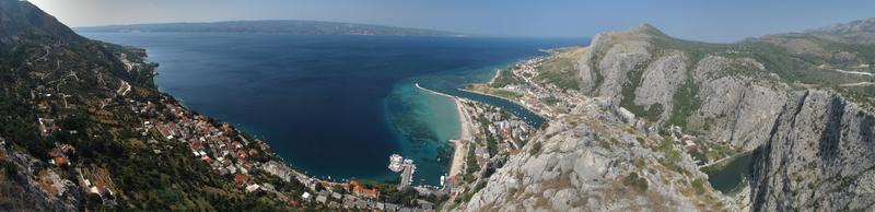 look from the mountains to town Omis