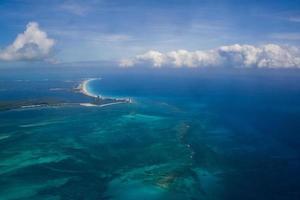 Vista arial en Cancún, México foto