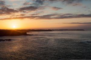 Sea at sunset, Cote D'Emeraude, Cancale, Ille-Et-Vilaine, Britta