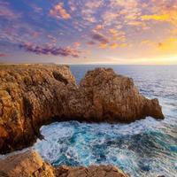 Menorca Punta Nati sunset in Balearic Islands photo