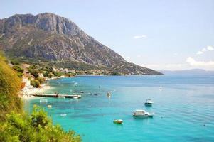 Picturesque summer landscape of Makarska riviera nearby Gradac, Croatia photo