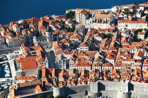 Vista aérea de Dubrovnik, Croacia