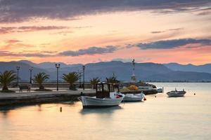 Fishing boats, Peloponnese, Greece. photo