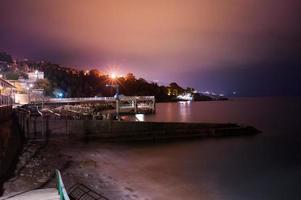 night cityscape, town Alupka. photo