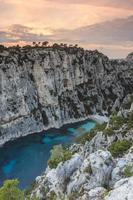 Sunset on the creeks of Cassis