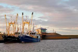Barcos de pesca en el puerto, Den Oever, Países Bajos foto