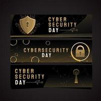 Poweful Security in Cyber Security Day vector