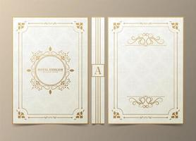 Ornamental book cover vector