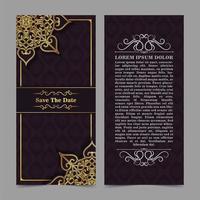 Elegant mandala wedding invitation  vector
