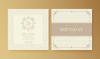 elegante plantilla de invitación de cumpleaños vector
