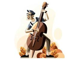Person playing violin vector
